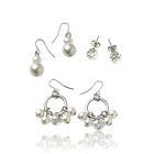 Romantic Pearl Earring Set